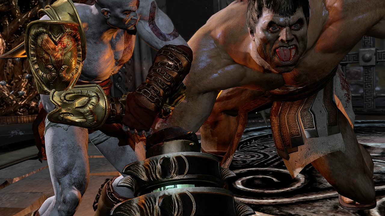 Kratos torturing an enemy