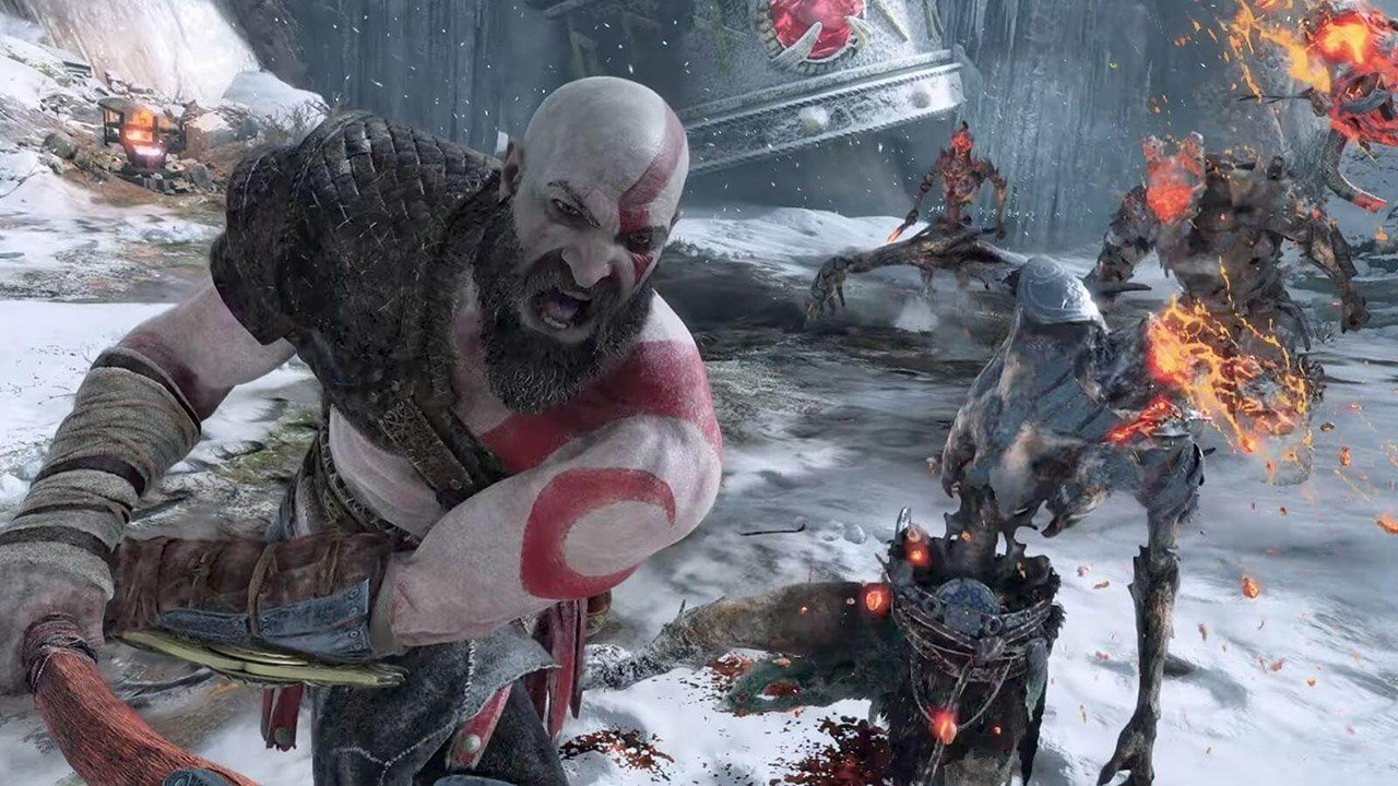 Kratos fighting