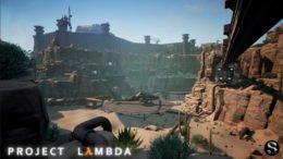 Desert facility scene