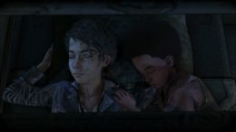 The Walking Dead The Final Season Clem and AJ sleeping