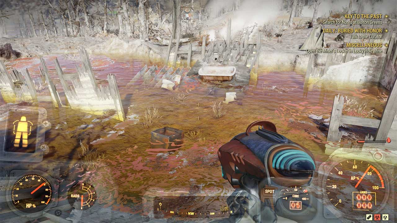 Fallout 76 Where to Get Alien Blaster & Rusted Key - Attack