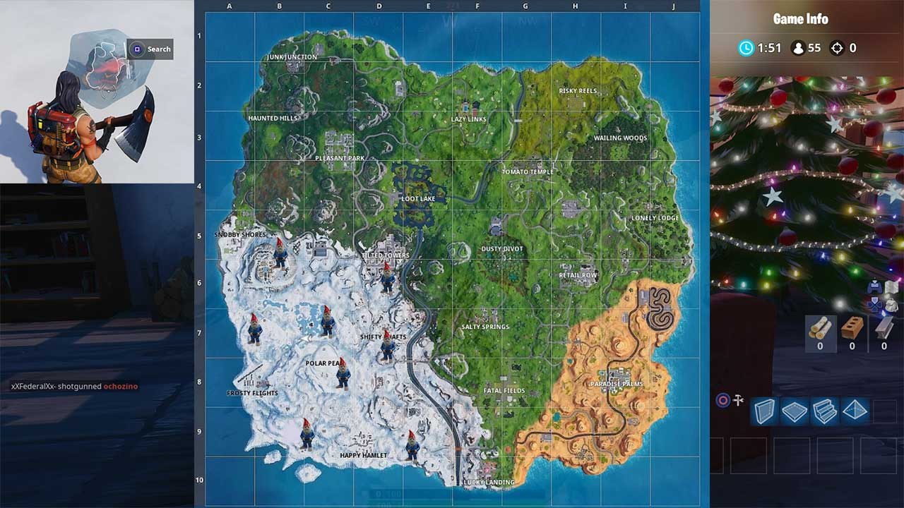 Fortnite Chilly Gnome Locations Season 7 Week 6 Challenge Attack