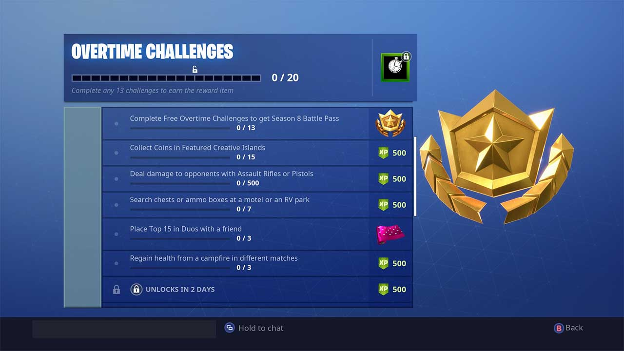 Complete Overtime Challenges How To Get Free Battle Pass In Fortnite