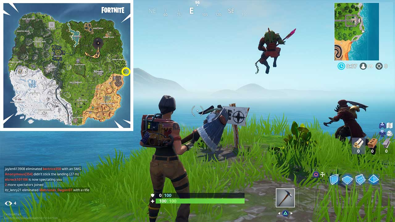 Fortnite Where to Visit the Furthest North, South, East ...