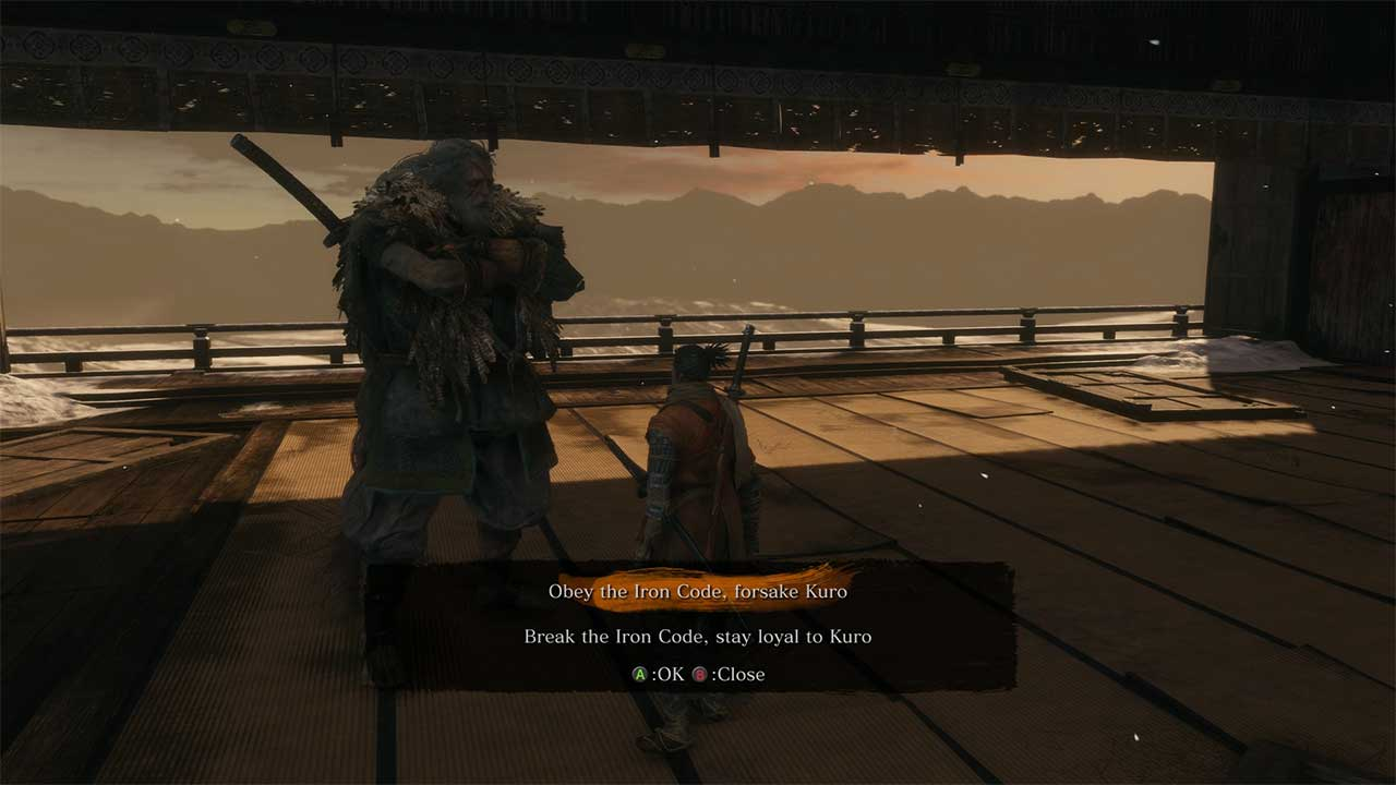 Sekiro: Shadows Die Twice Obey Iron Code Forsake or Stay Loyal to