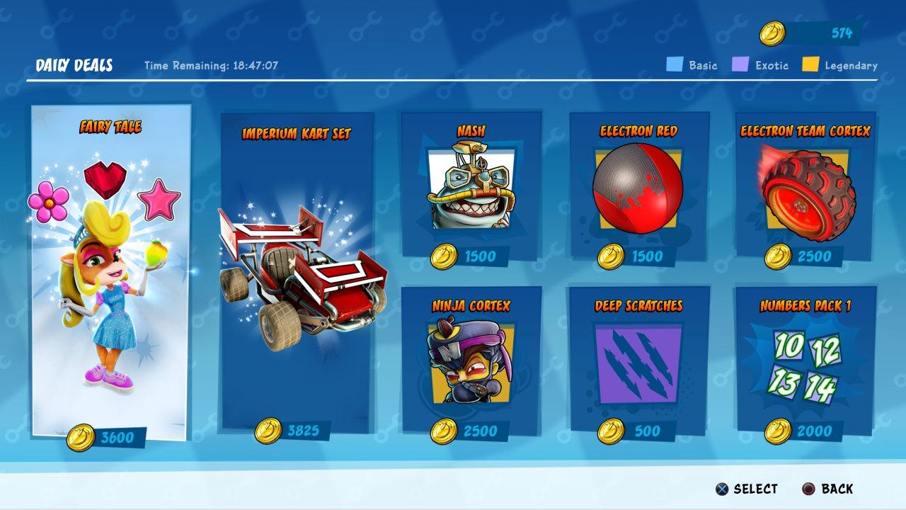 Crash bandicoot team racing ps4