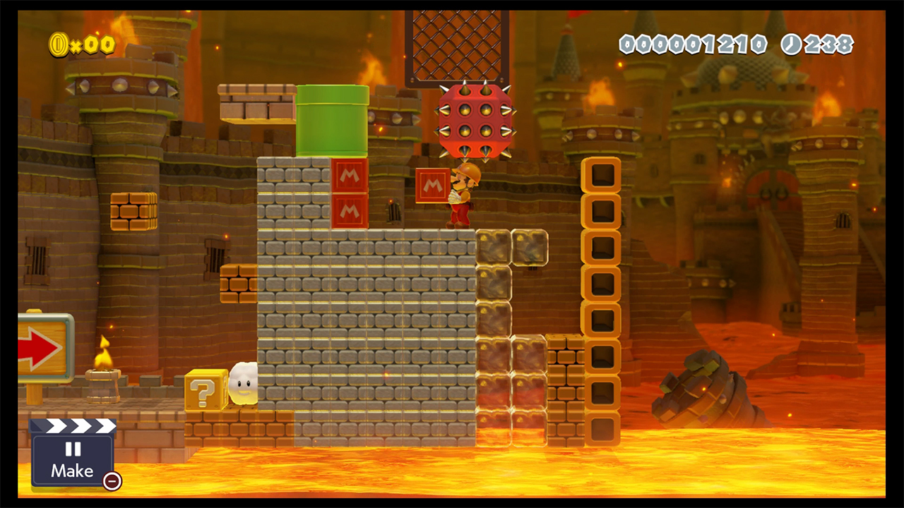 Super Mario Maker 2 How to Use Super Hammer and get Builder