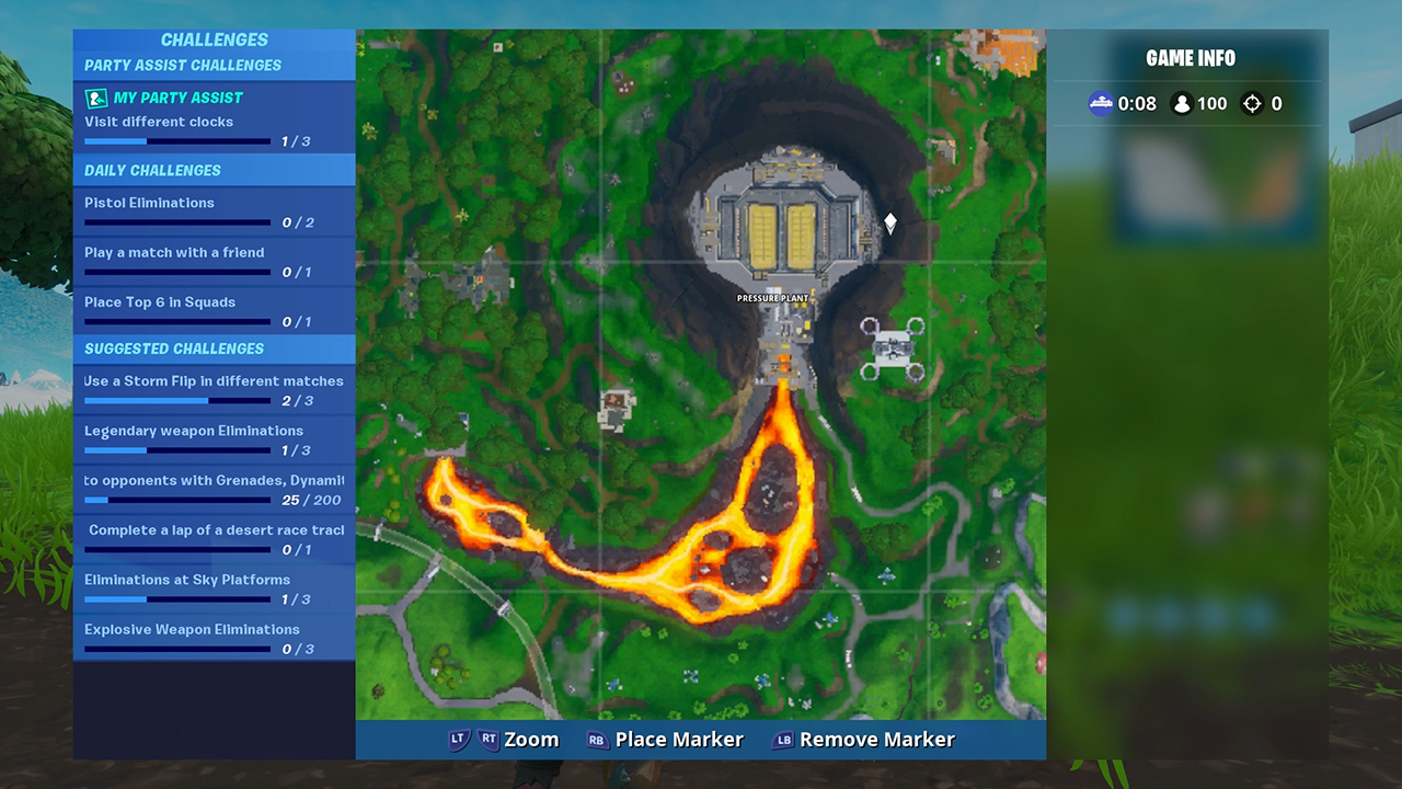 Fortnite Fortbyte #52 Location -- Accessible With Bot Spray