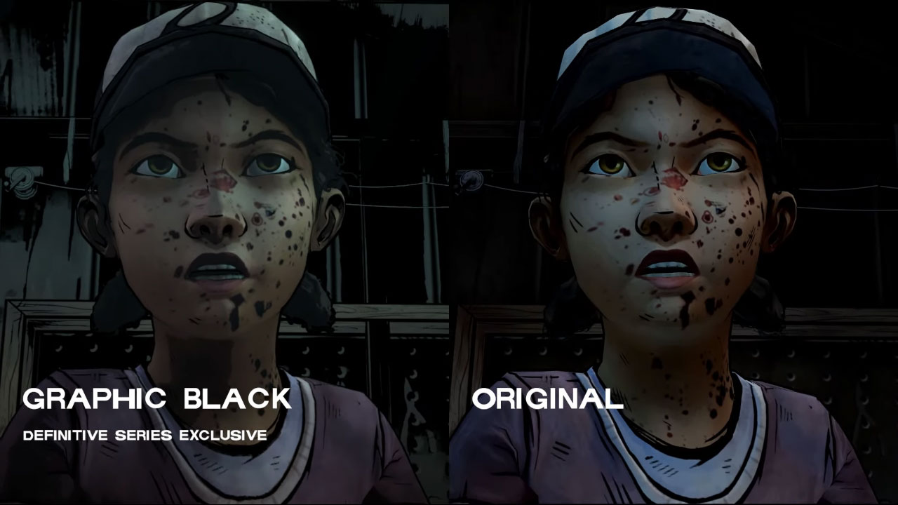 The Walking Dead Definitive Series choice of graphics