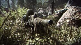 COD:MW sniper taking position.