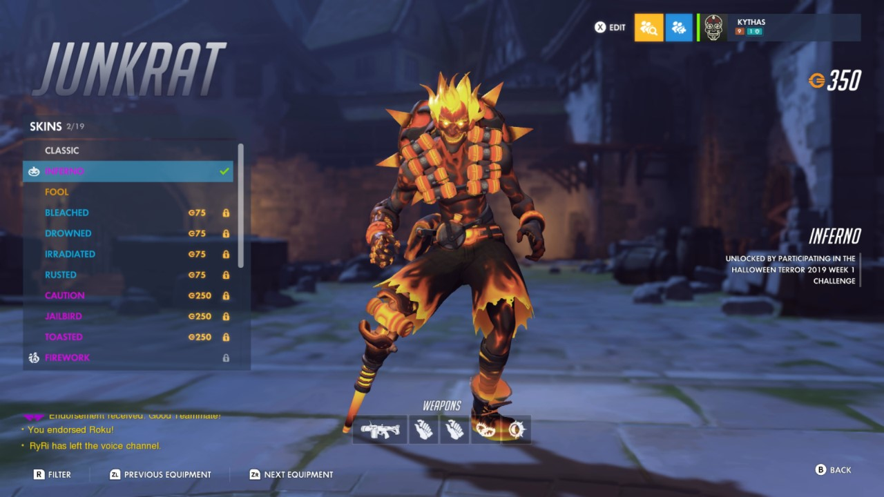 Overwatch Halloween 2019 Skins List Attack Of The Fanboy