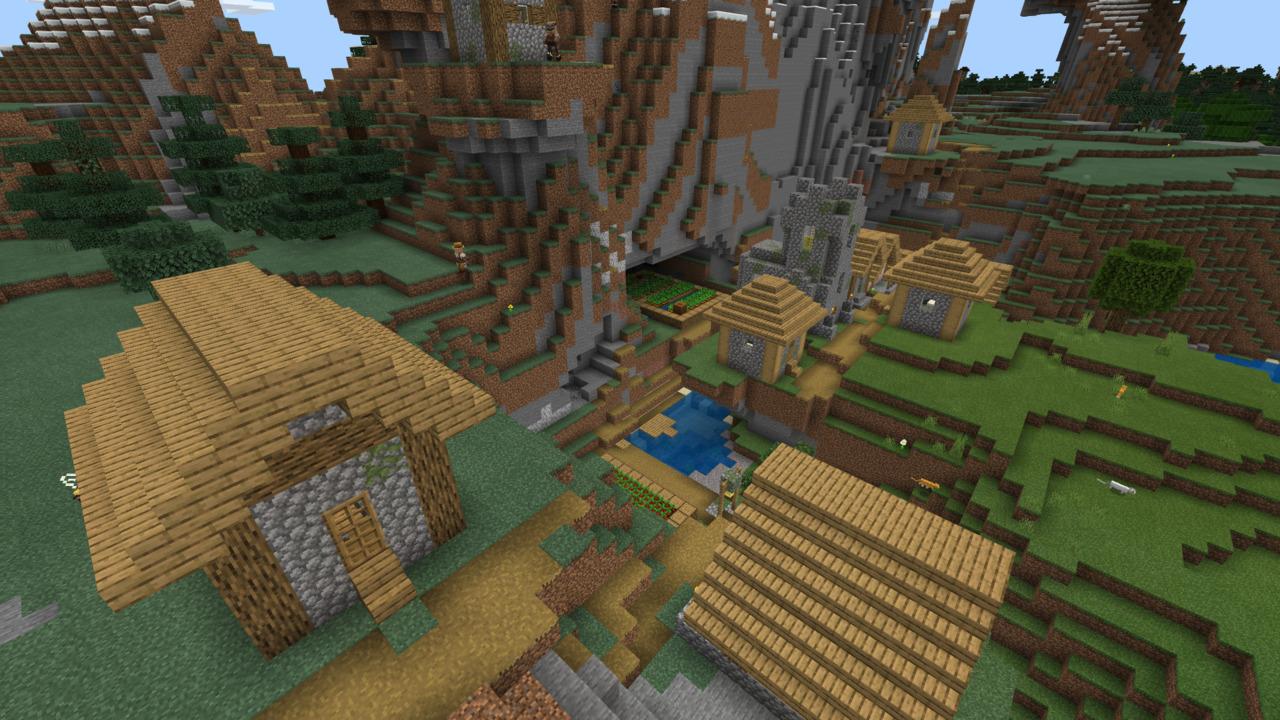 Minecraft-Mountain-Village