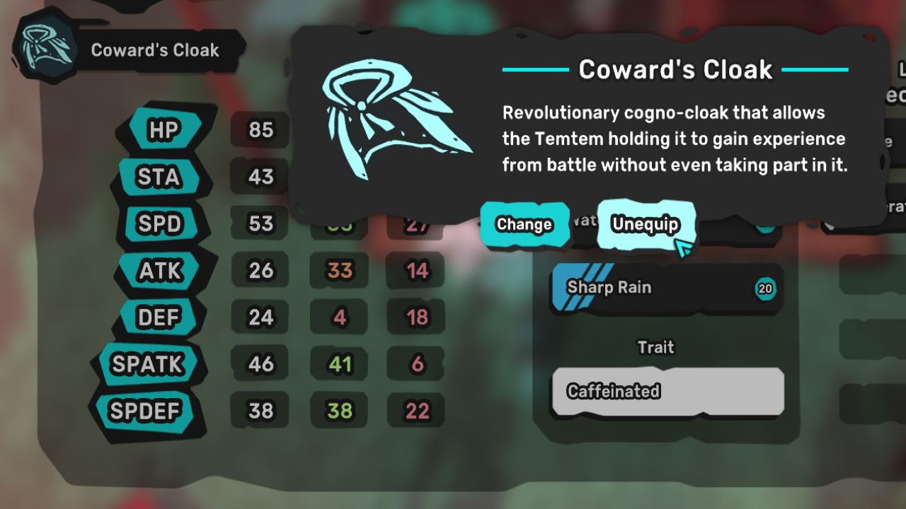 Temtem-How-to-Use-and-Where-to-Get-EXP-Share-Cowards-Cloak