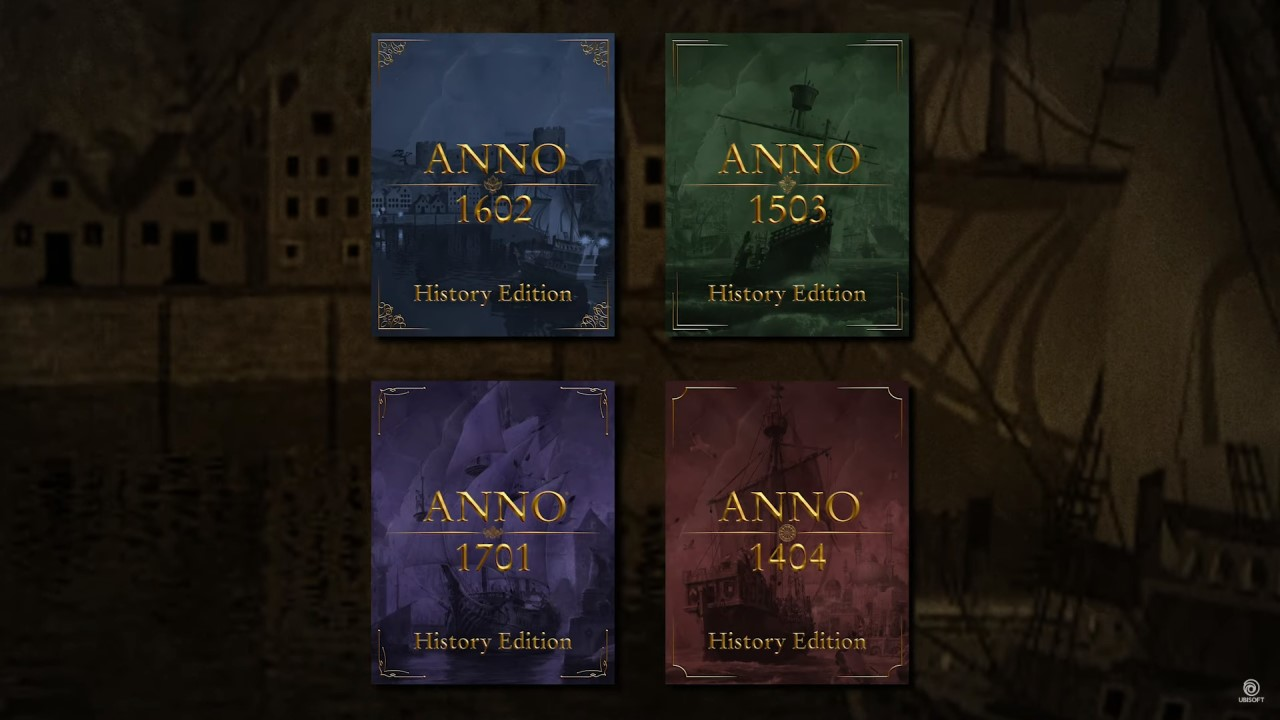 Anno: History Collection to Bundle Four Classics Next Month