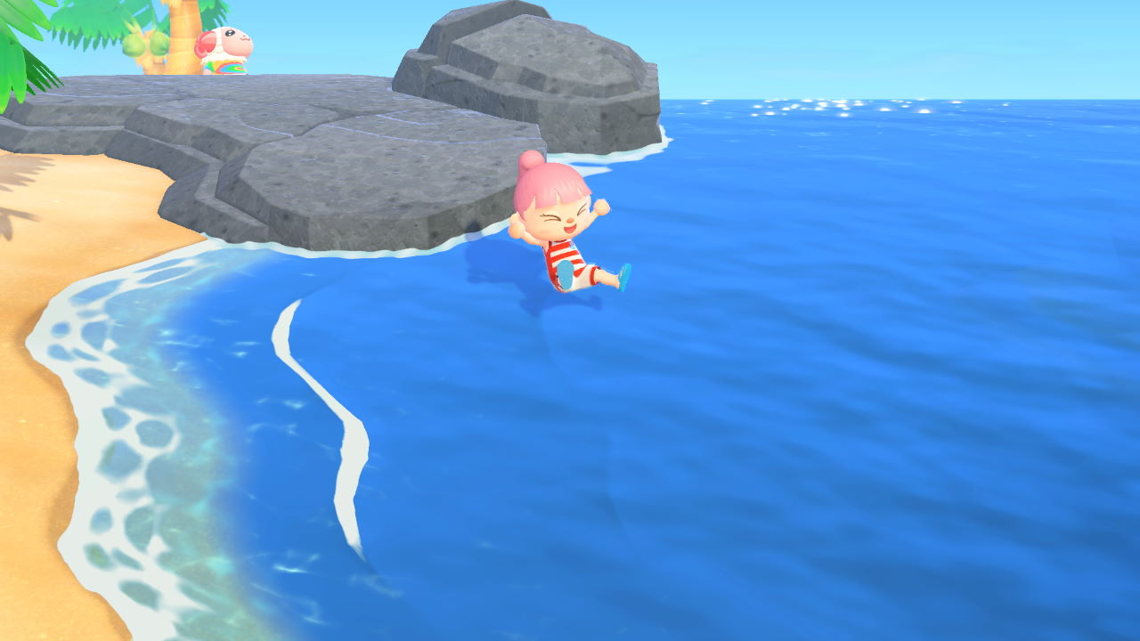 Animal-Crossing-New-Horizons-How-to-Swim-and-Dive