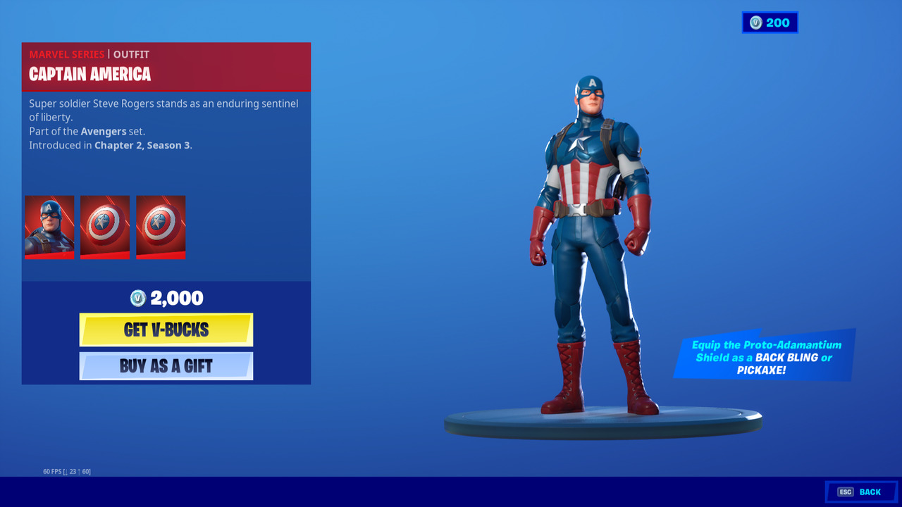 Fortnite: Captain America skin price and how to get