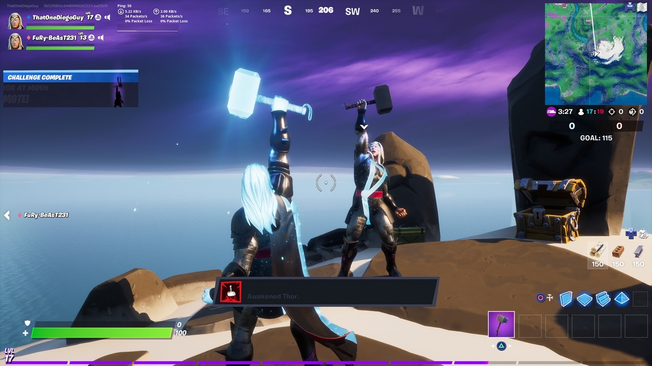 Fortnite Where To Emote As Thor On Mountaintop Ruins Attack Of The Fanboy