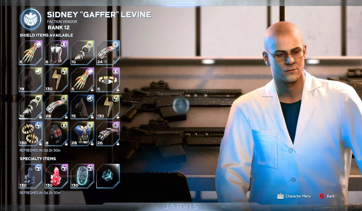 Marvels-Avengers-Sidney-Gaffer-Levine-SHIELD-Faction-Vendor