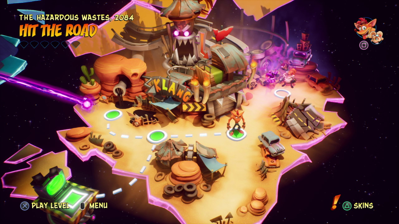 Crash-Bandicoot-4-World-2-3-Hit-the-Road-Bonus-Stage-Walkthrough