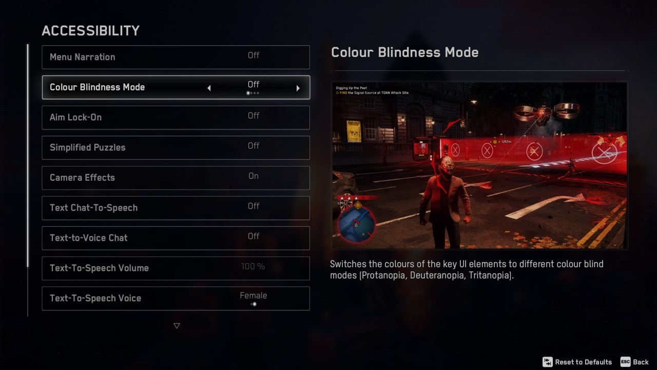 Watch Dogs: Legion Accessibility Settings