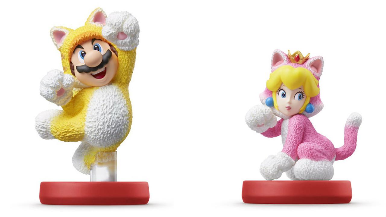 Cat_Mario_and_Cat_Peach_Amiibo