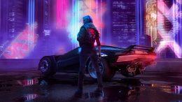 Cyberpunk 2077 Girl with Car