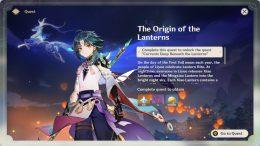 Genshin Impact - How to Unlock Lantern Rite Event