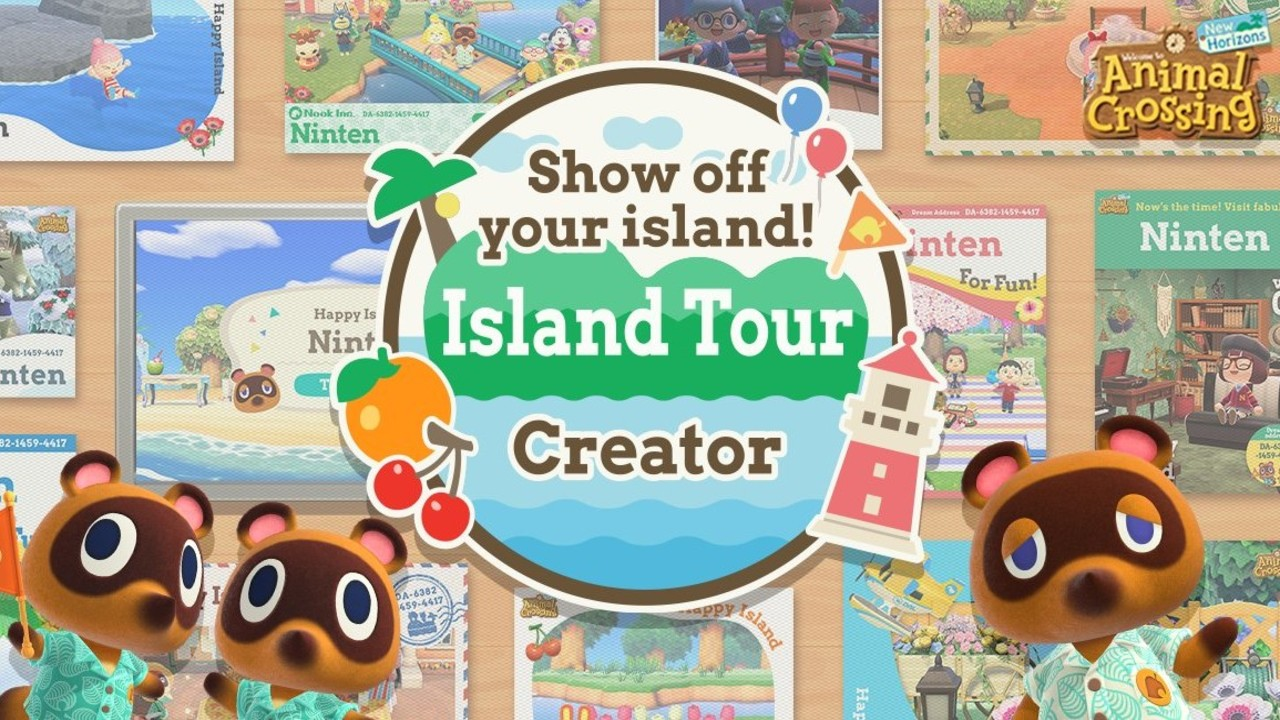 Animal Crossing Island Tour Poster