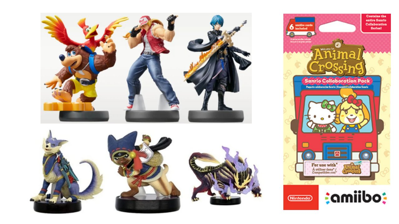 Amiibo-Hunting-Guide-For-March-26-Super-Smash-Bros-Monster-Hunter-Rise-and-Sanrio-AC
