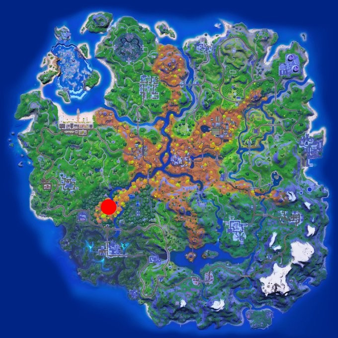 Fortnite-Weeping-Woods-Anomaly-Location-Map