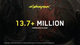 CD Projekt's image showing how many copies of Cyberpunk 2077 they sold in 2020