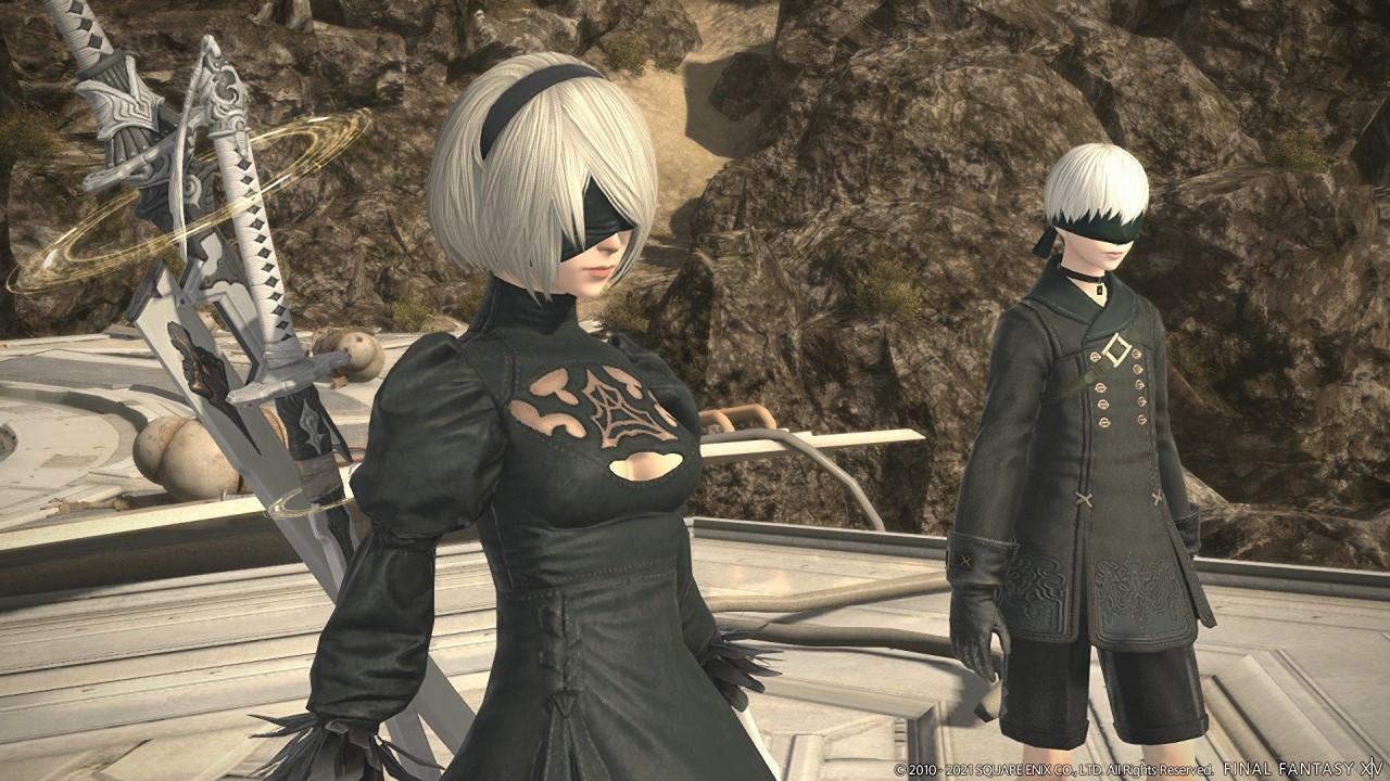 ffxiv-nier-tower-raid-characters