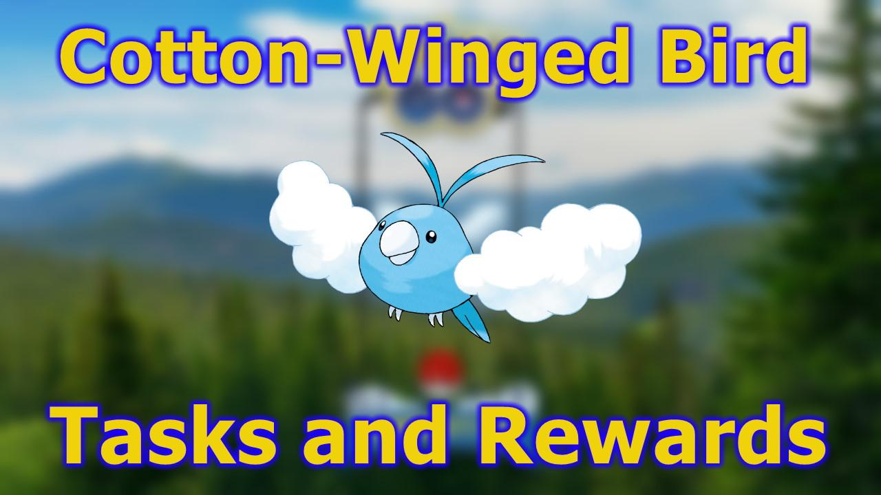 Pokemon-GO-Cotton-Winged-Bird-Research-Tasks-and-Rewards