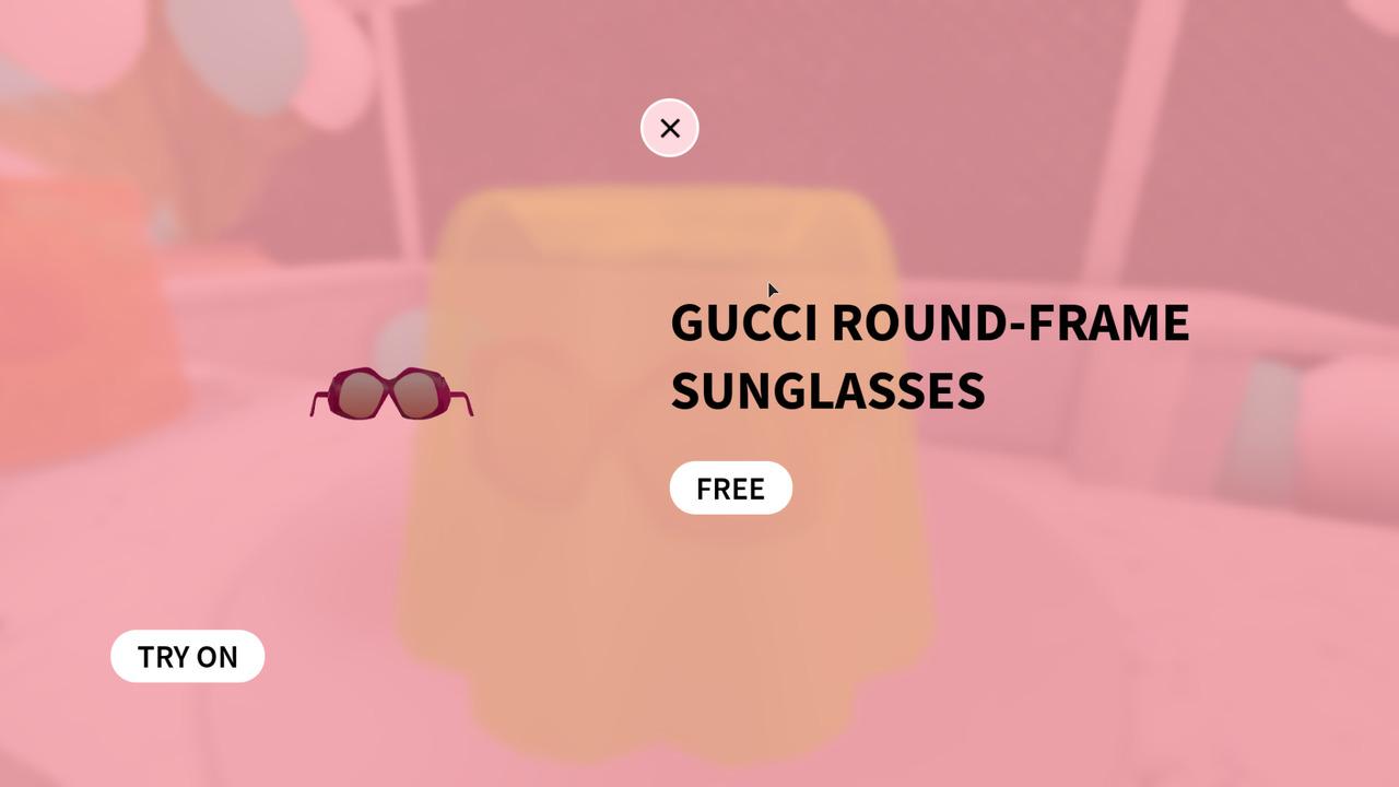 Roblox-Gucci-Round-Frame-Sunglasses