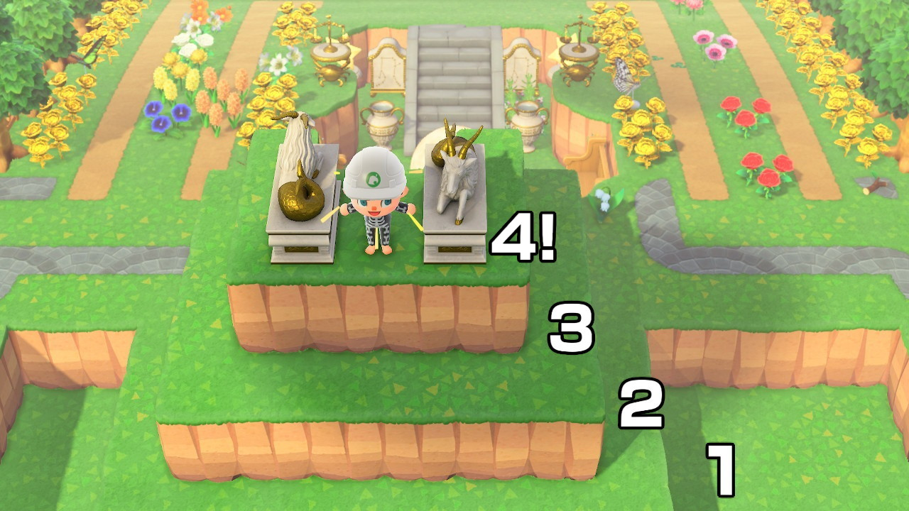 Example of the fourth tier glitch in Animal Crossing New Horizons