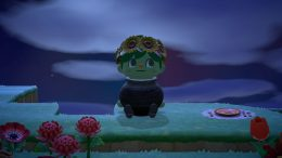Example of glitching into items in Animal Crossing New Horizons