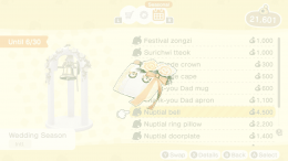 nuptial ring pillow in animal crossing new horizons