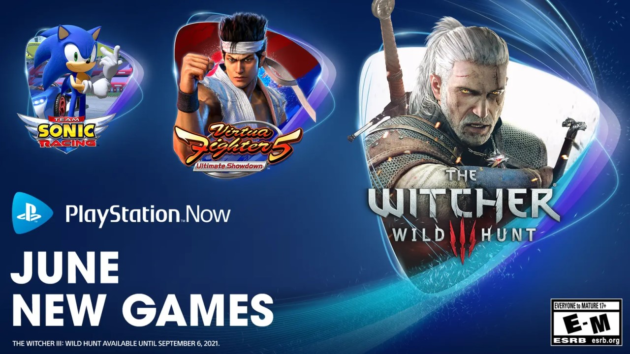 PlayStation Now June Line-Up to Feature The Witcher 3 and Trio of Sonic Games