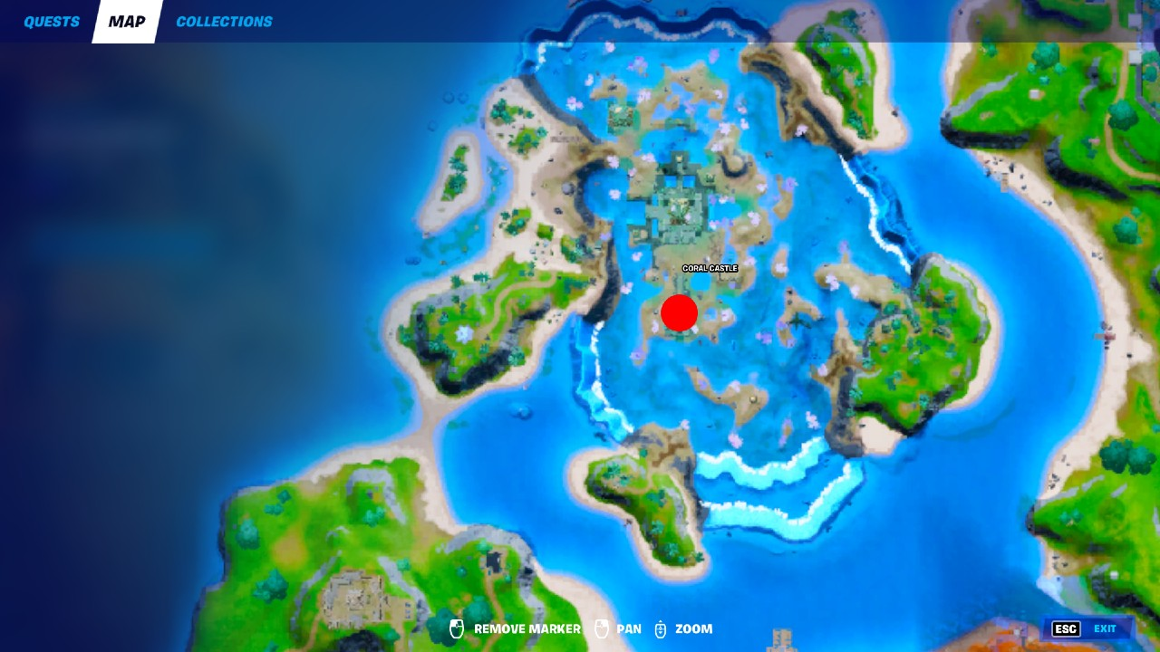 Fortnite-Coral-Castle-Artifact-Location
