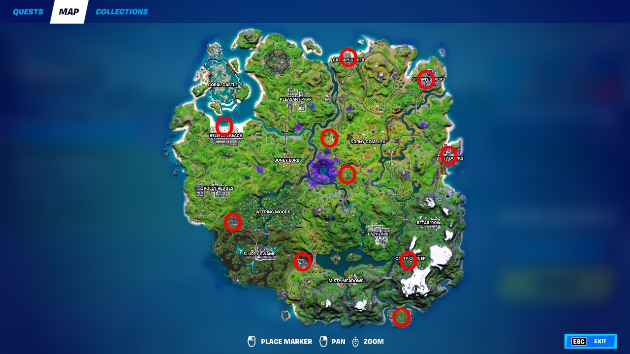 Fortnite-Upgrade-Bench-Locations