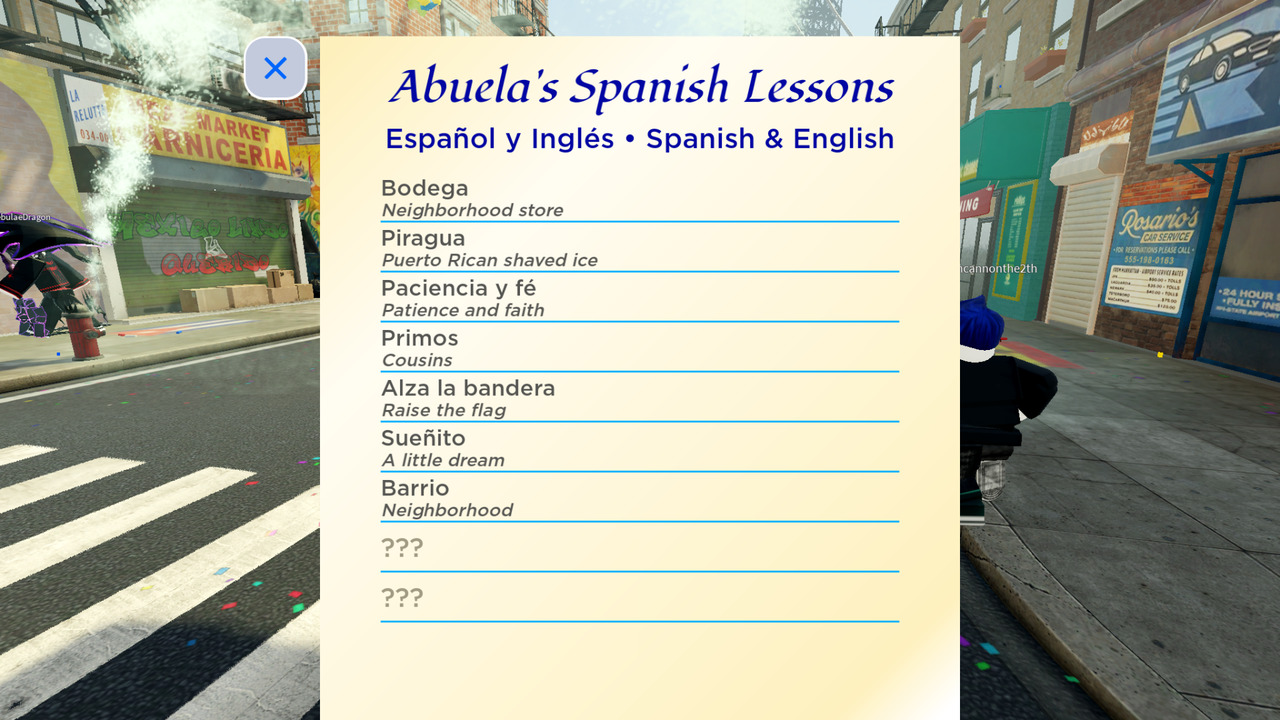 Roblox-Into-the-Heights-Spanish-Lessons