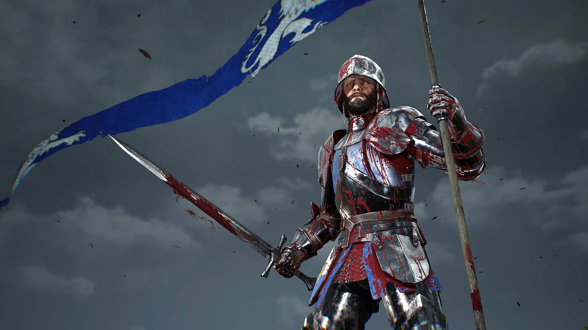 Chivalry-2-Man-With-Flag-and-Sword