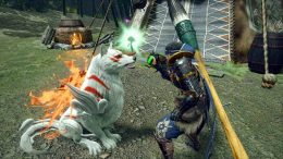 Okami collab with Monster Hunter Rise.