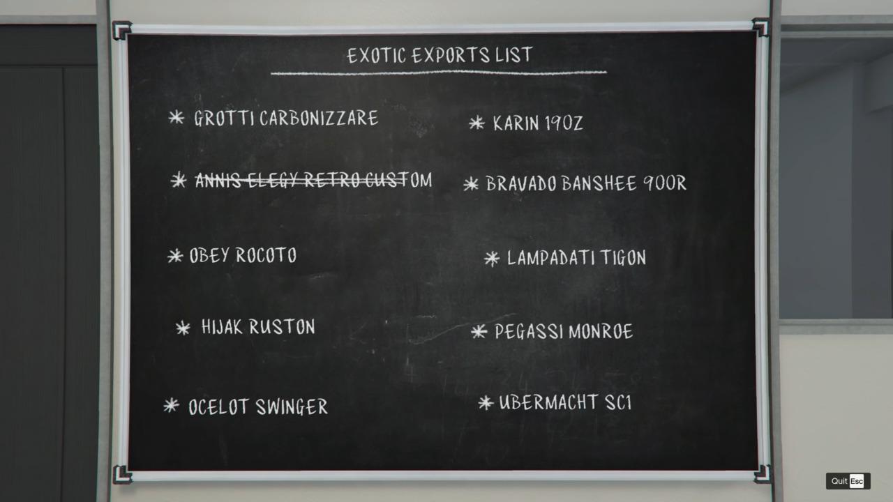GTA-Online-Exotic-Exports-List