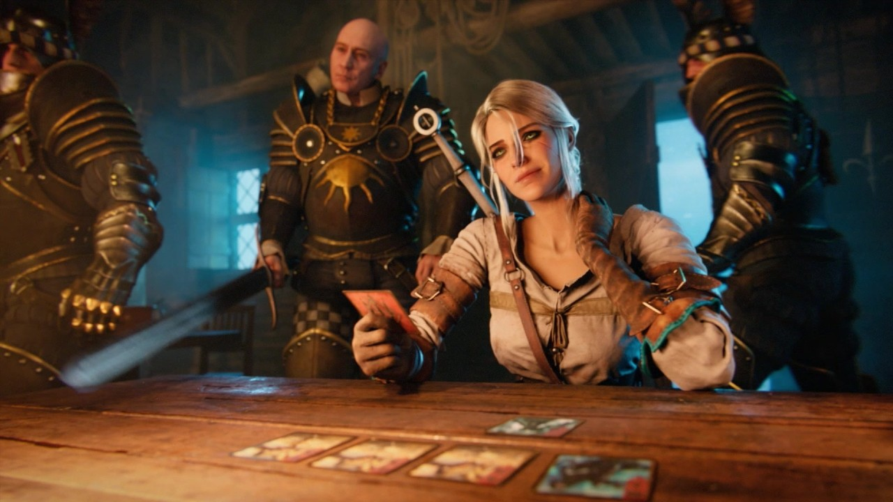 Gwent-The-Witcher-Card-Game-Playing-Cards-at-a-Table