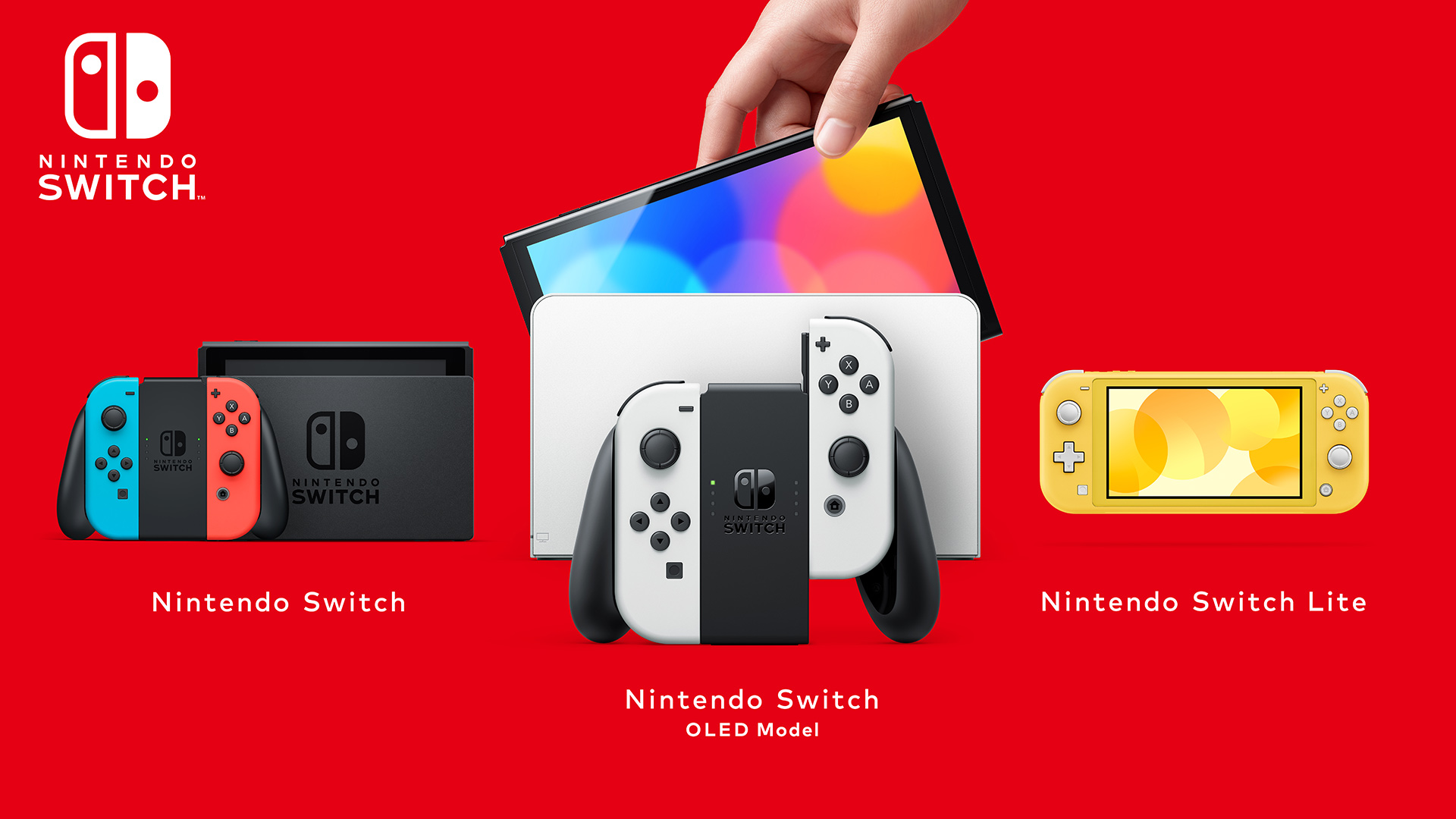 Nintendo Switch OLED Family Picture