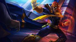 Captain Falcon in the F-Zero series