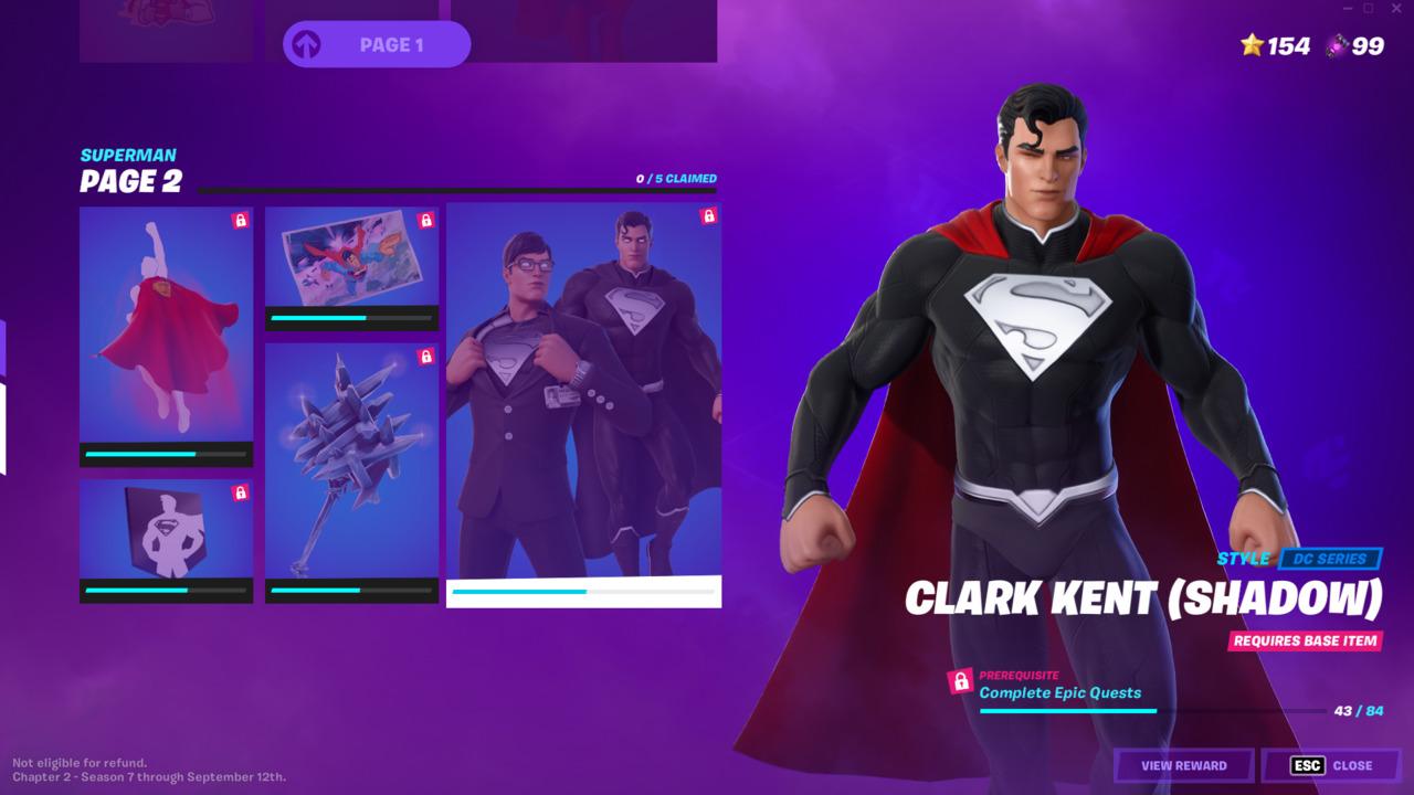 Fortnite-Clark-Kent-Superman-Shadow-Style