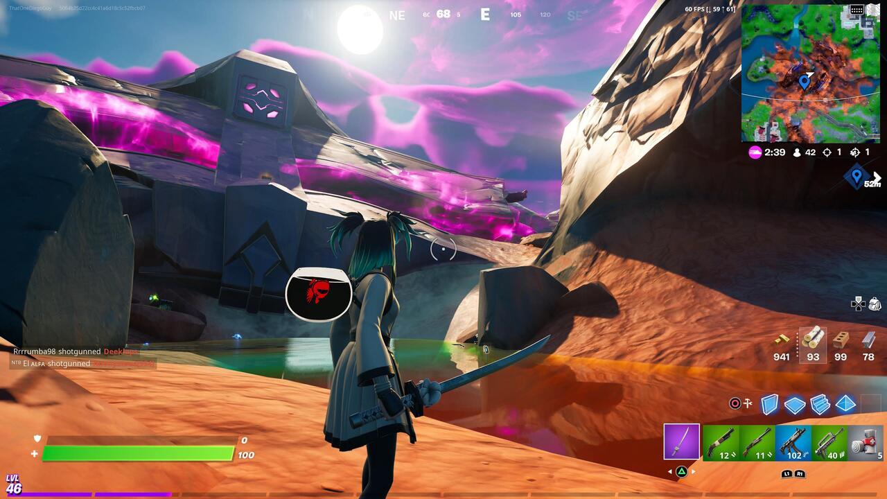 Fortnite Harvest Metal From Alien Crash Site