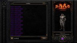 Gem Activated message in Diablo 2: Resurrected